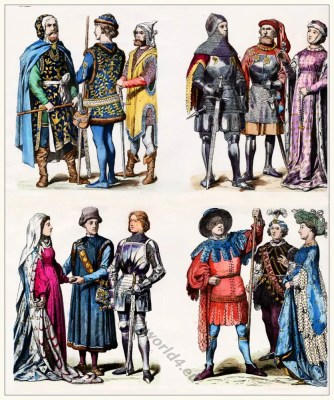 German fashion. Men's Dress. Costume History 15th century