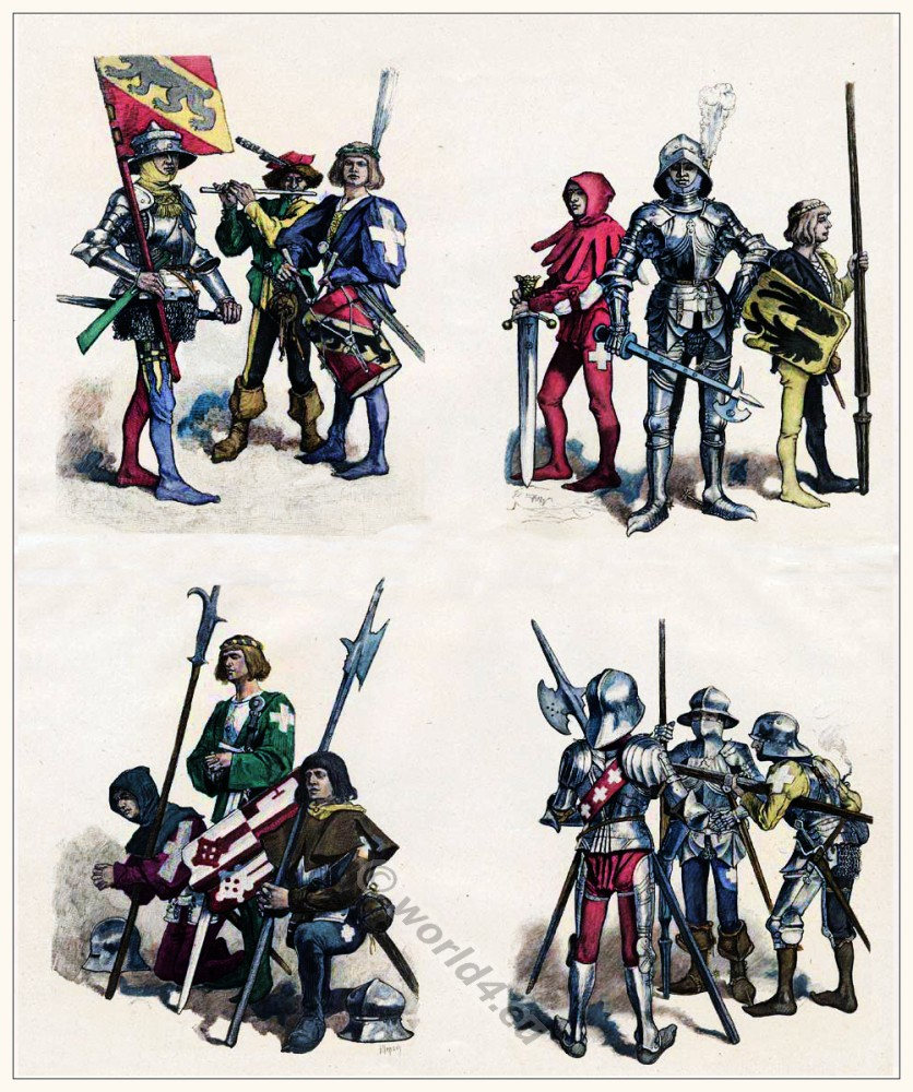 Swiss Military Costumes In 15th Century Costume History