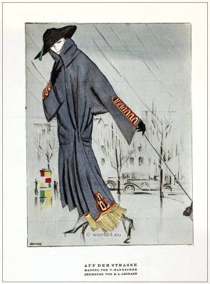 German Fashion designer V. Mannheim. Art deco costumes 1920s. Roaring twenties fashion. Gibson Girls clothing. STYL Fashion Magazine.