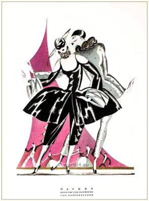 STYL Art Déco Fashion Magazine. German Art deco costumes 1920s. Roaring twenties fashion. Gibson Girls clothing.