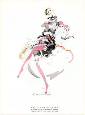 Lotte Pritzel doll. STYL Art Déco Fashion Magazine. German Art deco costumes 1920s. Roaring twenties fashion. Gibson Girls clothing.