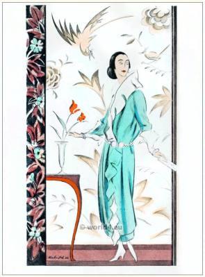 Sheath dress by Kühnen. STYL Art Déco Fashion Magazine. German Art deco costumes 1920s. Roaring twenties fashion. Gibson Girls clothing.