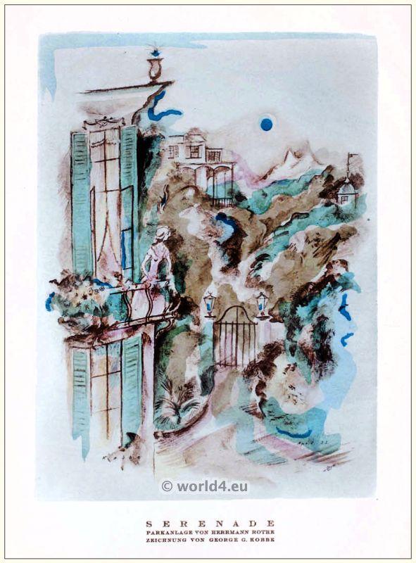 Art deco Park by Herrmann Rothe. STYL, Art Déco Fashion Magazine.