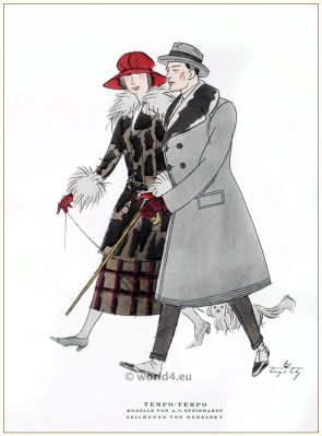Art deco costume models by A. C. Steinhart. STYL, Art Déco Fashion Magazine. Roaring twenties fashion. Gibson Girls clothing.