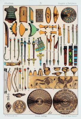 weapons, soldiers, warriors, ancient, military, Assyria, Babylonia, helmet, ornaments