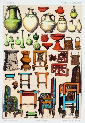 Babylonians and Assyrians pottery and furnitures. Babylonian, Assyrian Clothing