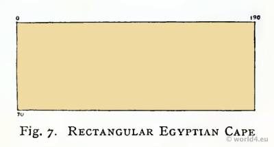 Ancient Egypt costumes. Cut of the Rectangular Cape.