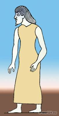 Ancient Egypt costume. Sewn Sleeveless Kalasiris.