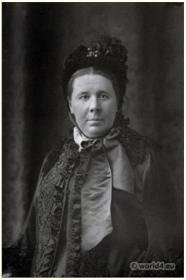 Emily Faithfull Suffragist. British feminist. Victorian costume