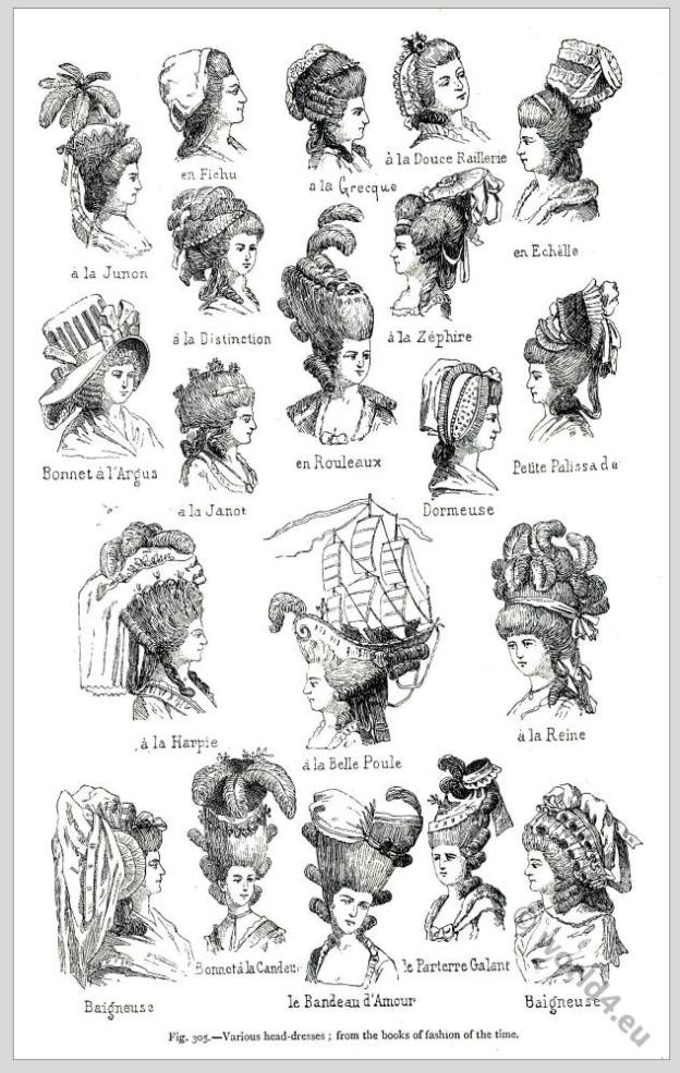 Rococo hairstyles