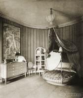 Art deco interior Ladies bedroom. Painter Ludwig Kainer, Palais Stourdza, painter Otto Lendecke