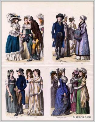 German fashion in the last third of the 18th century.