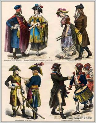 French revolution clothing. Directory Costumes 18th century