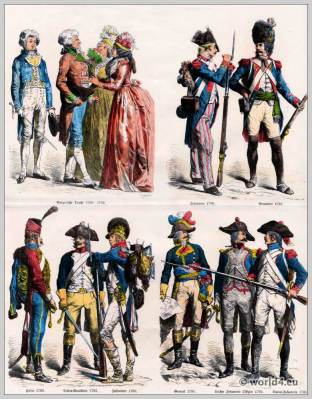 French Republic costumes 18th century