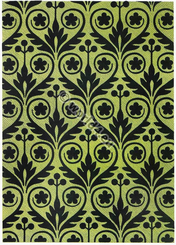 french baroque period silk design fabric 17th century