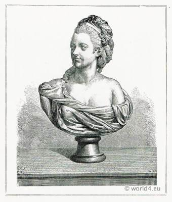 Terracotta bust Madame du Barry. Augustin Pajou. French school. Marquis Alfred Lau d'Allemans.