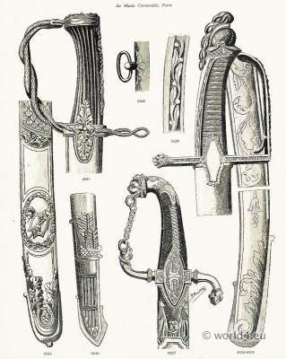 Swords of honor. General Weapons of Honor. French Revolution 18th Century.