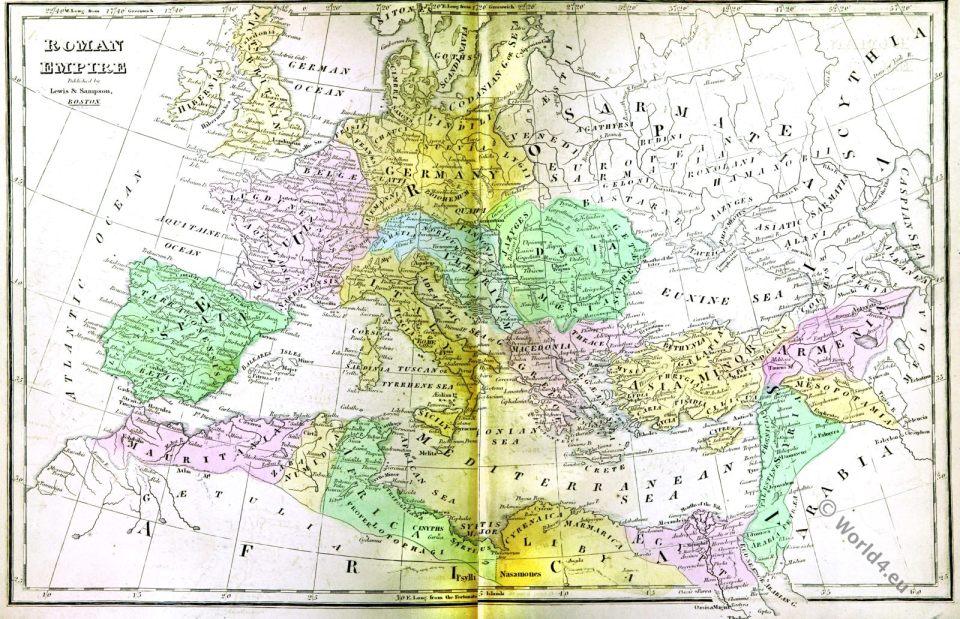 Roman Empire, Ancient Map