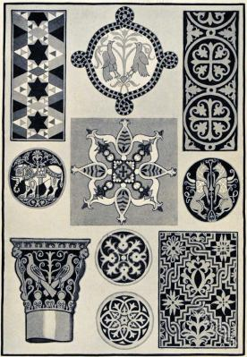 Byzantine decoration, ornaments.