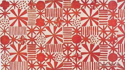 Hilde Blumberger, Vienna. Printed fabric design. Wiener Werkstätten. Viennese Modernists. Wiener Kunstgewerbeschule