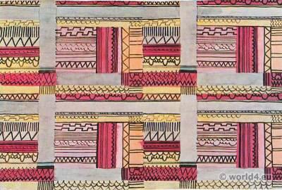Jacqueline Groag. Hilde Blumberger 1911. Printed fabric design. Wiener Werkstätten.