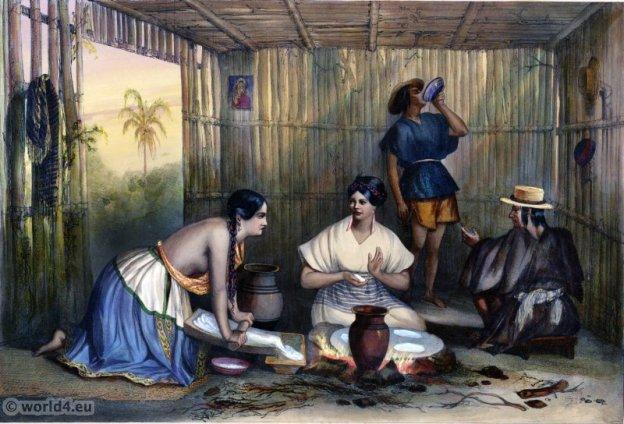 Mexique, Traditional, Mexico, costume, clothing, Mestizo, Carl Nebel,