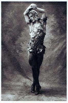 Vaslav Nijinsky in Le Spectre de la Rose. Russian Ballet. Dance costume. Famous Opera