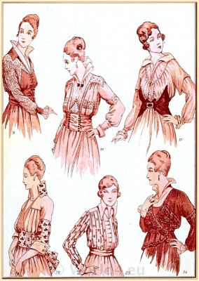 France Belle Epoque Fashion, French Fin de siècle blouses.