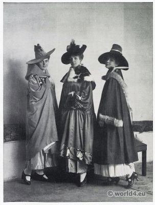 Costumes by Vienna Secession, Wiener Werkstätte, Vienna Workshops. Theatrical costumes for Budapest