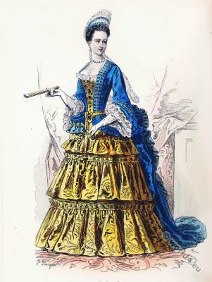 Élisabeth Charlotte d'Orléans. French nobility. 17th century costume. baroque fashion