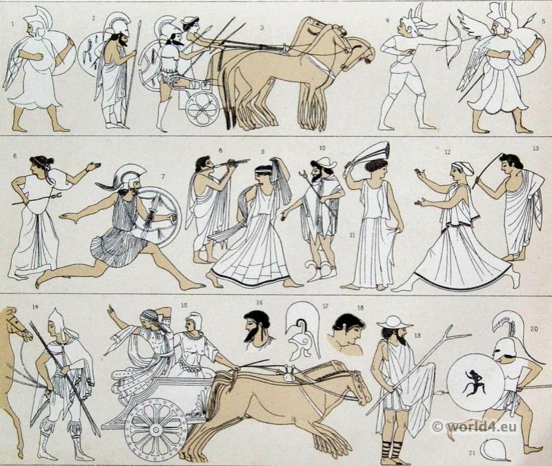 Ancient, Etruscan, costumes,