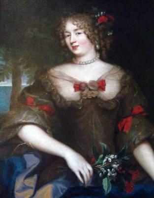 Françoise Marguerite de Sévigné. Louis XIV fashion. 17th century costume