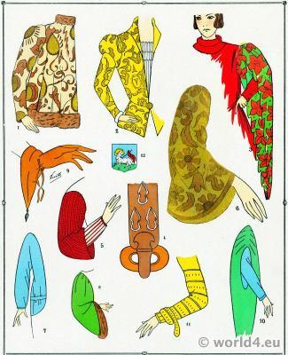 Manches. Les modes du Moyen Age.