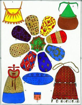 Étoffes. Les modes du Moyen Age