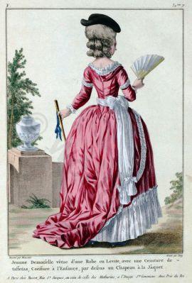 Robe, Levité, Louis XVI, Court dress, Rococo, fashion history, 18th century