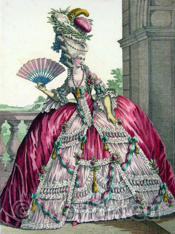 Pouf, Victoire, Louis XVI, Court dress, Rococo, fashion history, 18th century