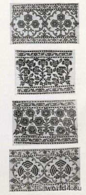 India. Cotton Printers. Pattern Book. Monochrom Drawings on Muslin. Traditional Indian fabrics. textil design