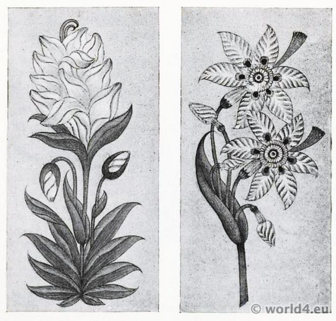 Plant, Drawings, India, Cotton, Pattern, Indian, fabrics, Textil, design