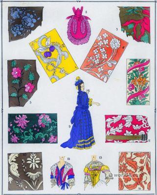 Louis XIV fashion. Étoffes. 17th century. Baroque fashion.