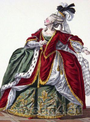rococo fashion. Le Pouf. Marie Antoinette. Hoop skirt. 18th century fashion
