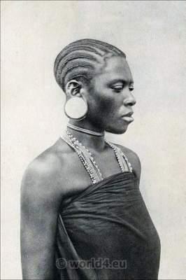 Swahili Costume, Traditional, Kisuaheli, Mozambique, Somalia, Africa, Hair fashion, Suahili, Swahili, Woman