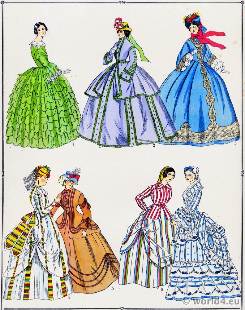 Les Modes Du Second Empire 1852 A 1870 Costume History