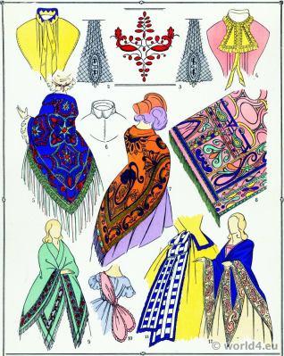 Second Empire Skirts. Victorian Fashion History. 19th century fashion. Embroidery. Second Rococo costumes.