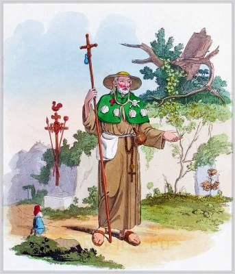 Historical Italy folk costumes