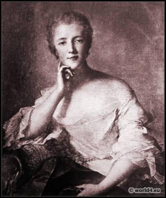 Madame de Pompadour. French Rococo Costume. Louis XV fashion.