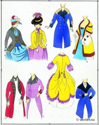 Rococo Mantle. Louis XVI. Marie Antoinette fashion.