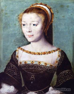 Anne de Pisseleu d'Heilly, Mistress,French King, Francis I, Renaissance, costume, Adornment, jewelry