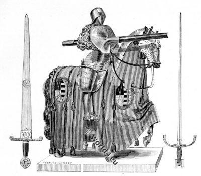 Tournament, armor, 15th century, armour, sword
