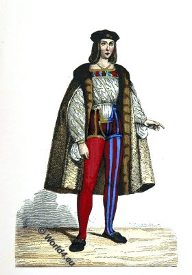 Charles II d'Amboise, Marshal, admiral, France, military governor, fashion, costume, history,