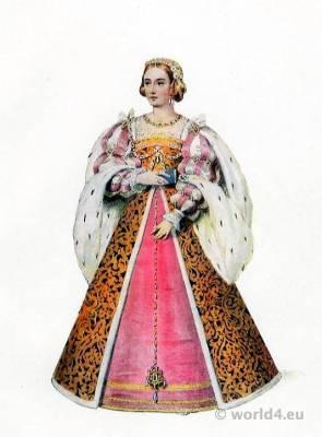 French Queen, Eleanor of Austria, Eleanor of Castile, Renaissance, Costume, Adornment, Jewellery